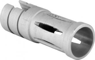 RUGER10/22 MUZZLE BRAKE-SHORT/PEWTER (TWIST-ON)